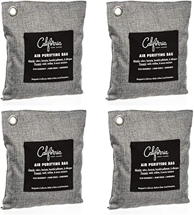 Bamboo Charcoal Air Purifying Bag (4 Pack), 200g Natural...