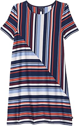 Yarn-Dye Road Map Stripe Dress (Big Kids)