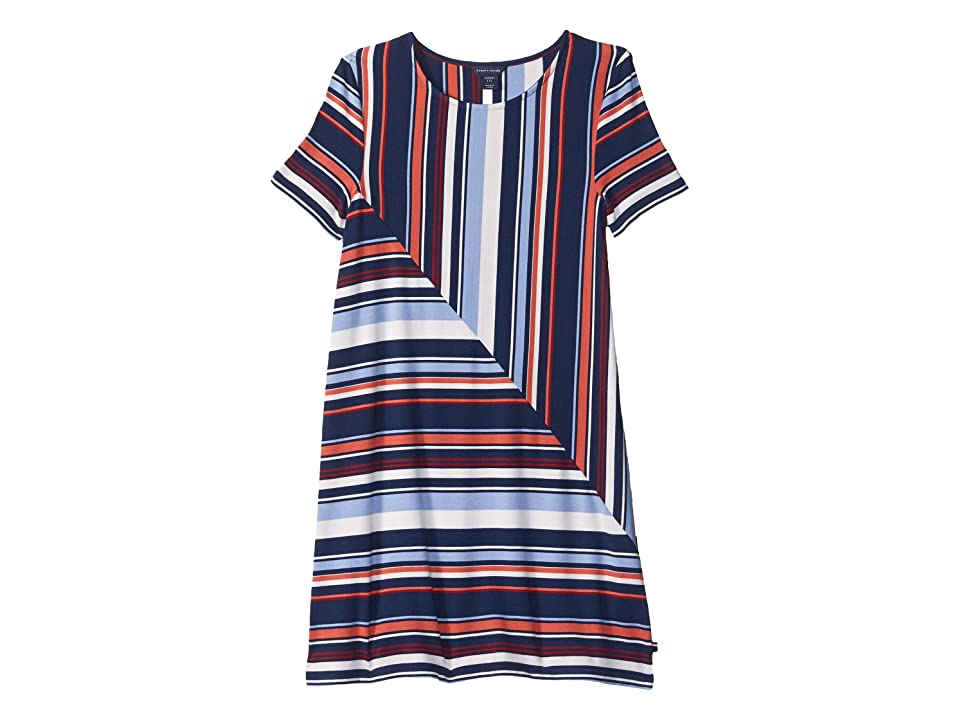 Tommy Hilfiger Kids Yarn-Dye Road Map Stripe Dress (Big Kids) (Flag Blue) Girl