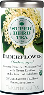 The Republic Of Tea Organic Elderflower Superherb Herbal Tea, 36 Tea Bags, Cold Season Tea Blend
