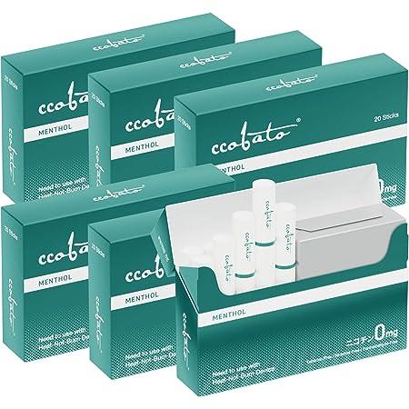 【日本正規品】 ccobato コバト メンソール ニコチンゼロ 加熱式スティック iQOS互換機 6箱