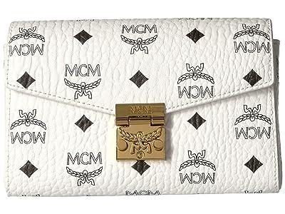 MCM Patricia Visetos Belt Bag Small (White) Handbags
