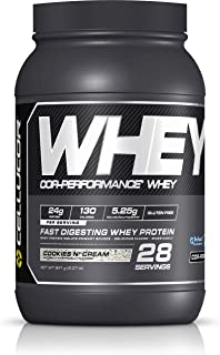 Cellucor Cor-Performance Protein Powder Cookies & Cream | 100% Whey Isolate | Gluten Free + Low Fat Post Workout Muscle Growth Drink for Men & Women | 28 Servings