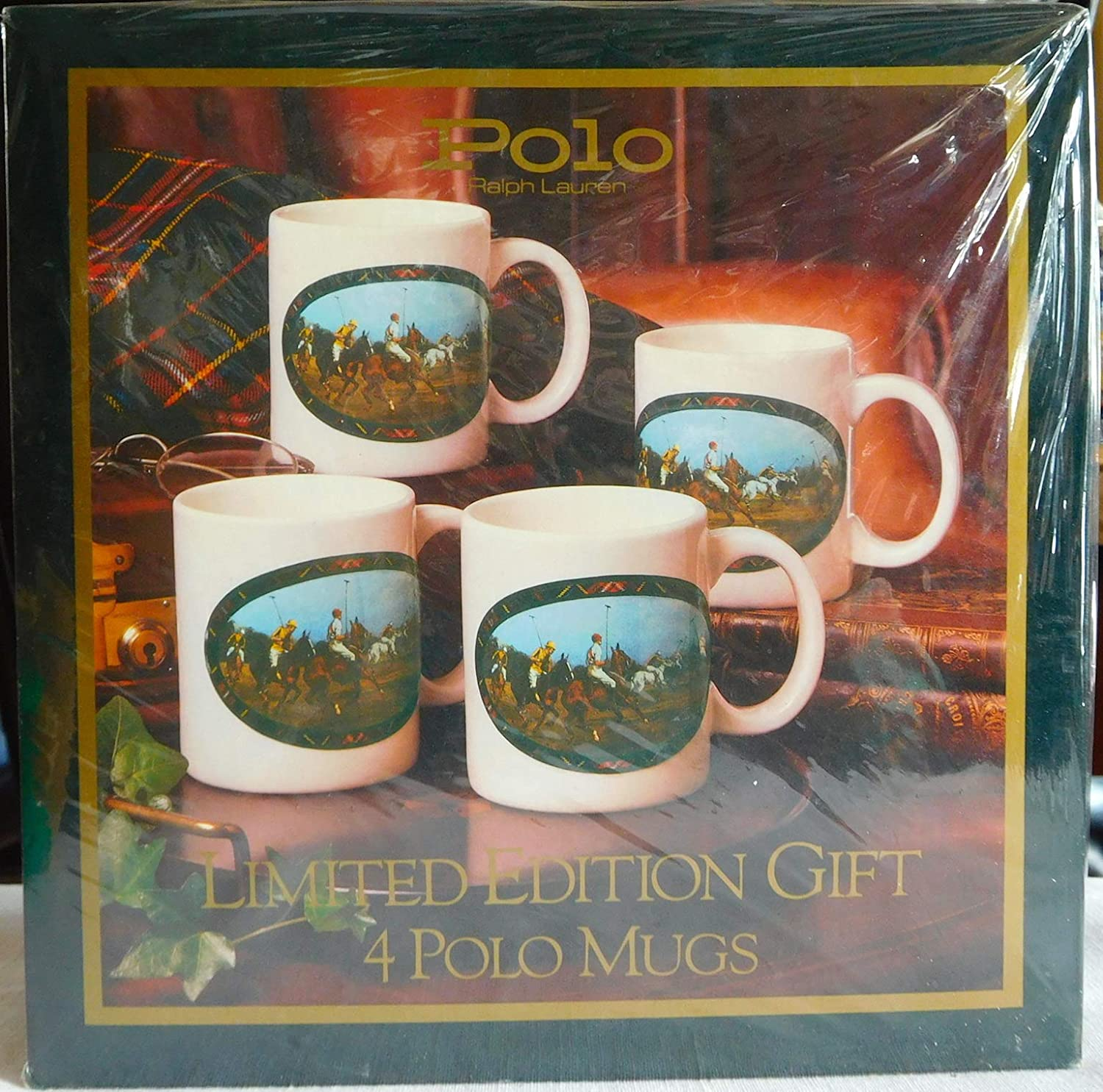 San Francisco Mall Set of Same day shipping 4 Limited Edition POLO Mugs Collector's in Coffee Box