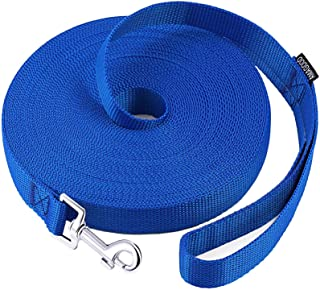 AmaGood Dog/Puppy Obedience Recall Training Agility Lead-15 ft 20 ft 30 ft 50 ft Long Leash-for Dog Training,Recall,Play,S...