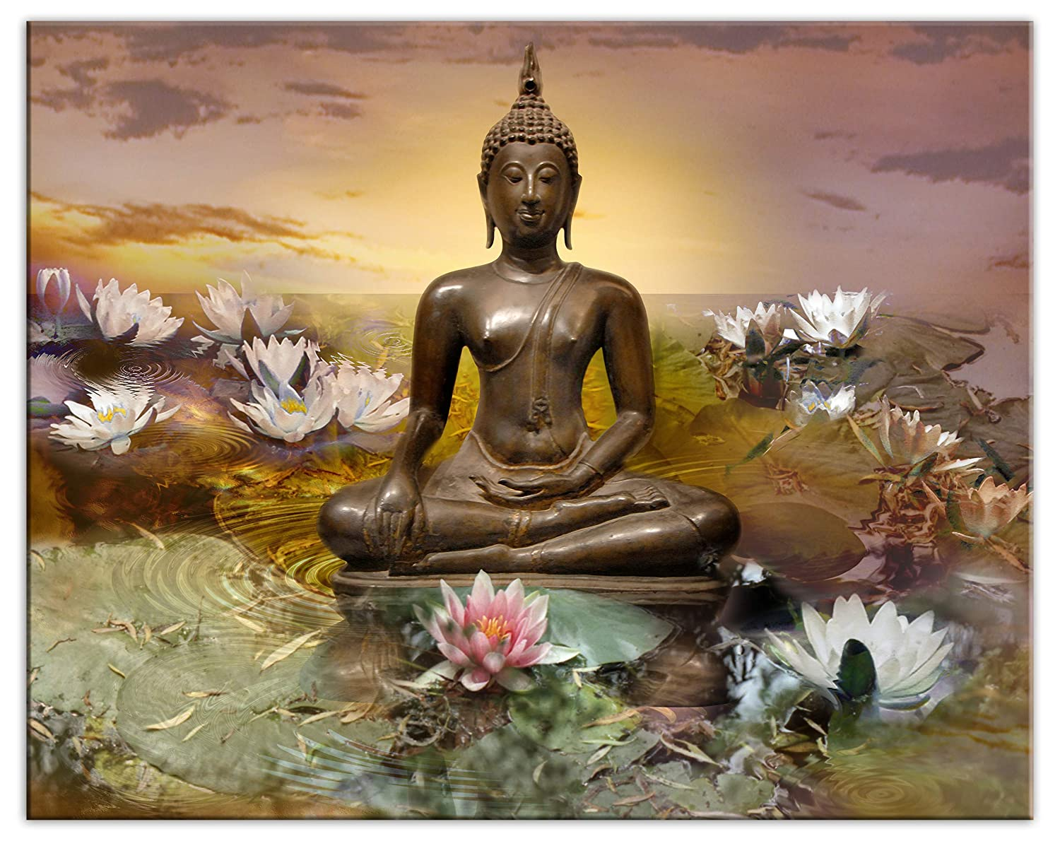 Buddha Wall Art Courier shipping free High Quality Canvas Max 40% OFF surrounded - Print by