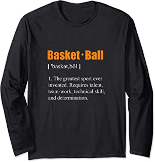 Basketball Shirt Definition Meaning Long Sleeve T-Shirt