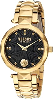 Versus by Versace Women's Covent Garden Quartz Watch with Stainless-Steel Strap, Gold, 18 (Model: SCD120016)