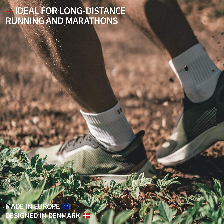 Respirantes et Anti-Ampoules Fasciite Plantaire DANISH ENDURANCE Chaussettes de Course /à Pied Longue Distance et Marathon pour Homme et Femme Renforc/ées pour Sports et Running Compression de la Vo/ûte Plantaire