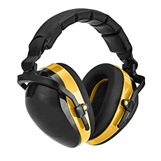 Amazon Basics Noise-Reduction Safety Earmuffs Ear Protection, Black and Yellow