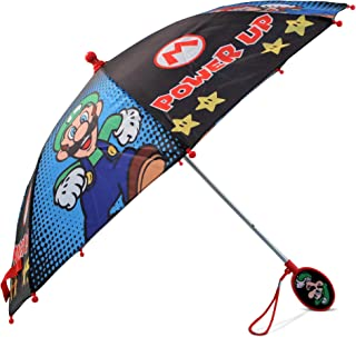 Nintendo Little Boys Mario And Luigi Character Rainwear Umbrella