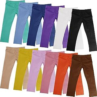 Sponsored Ad - Boys Girls Toddler Little Kids Unisex 12 Pack Cotton Stretch Snug Fitting Long Pant Leggings