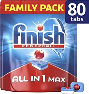 paquete de 90 Tabletas para lavavajillas Finish todo en 1 lim/ón tabletas
