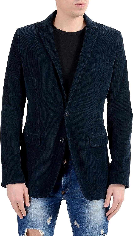 Dolce & Gabbana Men's Corduroy Blue Two Button Blazer Sport Coat US 34 IT 44