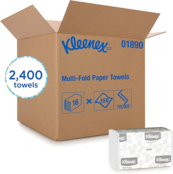 Kleenex Multifold Paper Towels 01890 White 150 Tri Fold Paper Towels Pack
