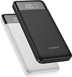 VEGER Slim power bank 10000mAh li-polymer external battery charge, LCD display portable power bank for IPhone,Samsung,Huaw...