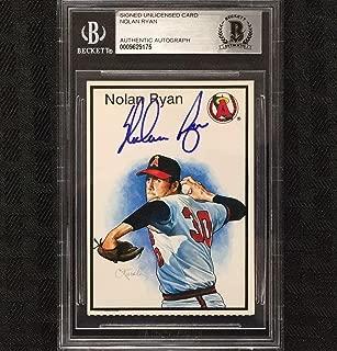 NOLAN RYAN Autograph Signed ANGELS Baseball Card * BGS BAS Beckett * Auto - Beckett Authentication - Baseball Slabbed Autographed Cards