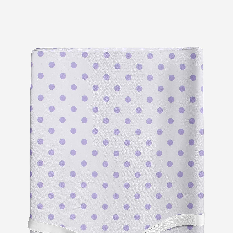 Glenna Jean Purple Dot Changing Pad Cover