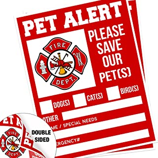 Pet Alert Fire Rescue Sticker - 5