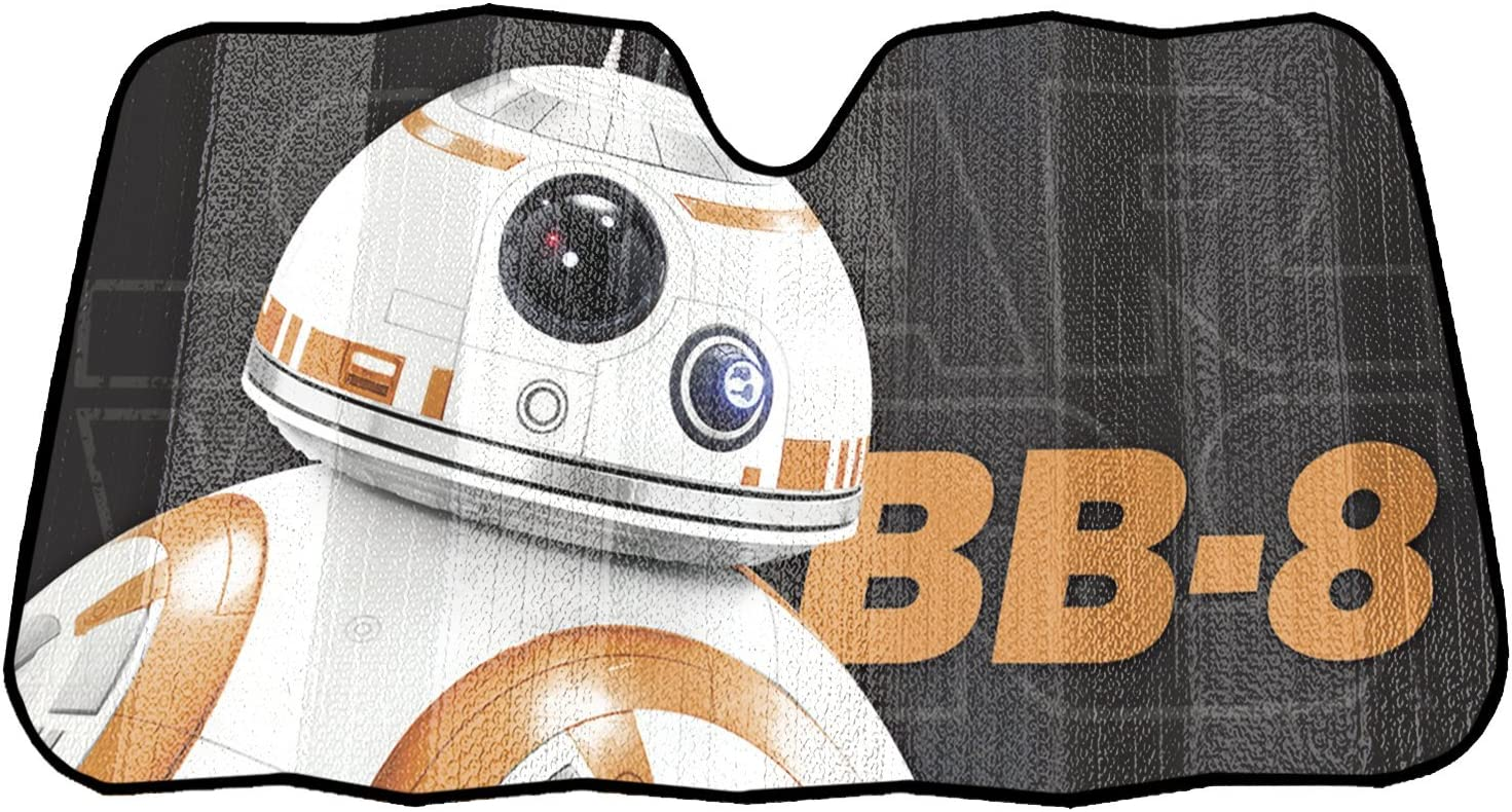 Plasticolor 003772R01 sold Max 50% OFF out Star Wars BB-8 1 Accordion Sunshade Pack