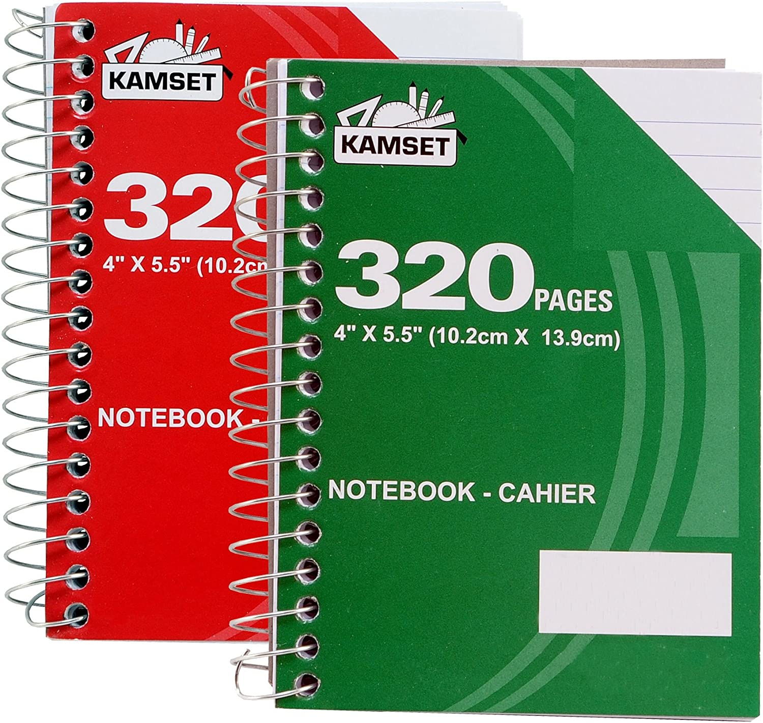 2021 Pack of 2 Cahier Spiral Notebooks x latest 4 Ruled 5.5-Inch College