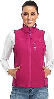Women's Fleece Vest Outerwear with Pockets, Softshell Waistcoat Warm Sleeveless Coat Vest for Fall & Winter