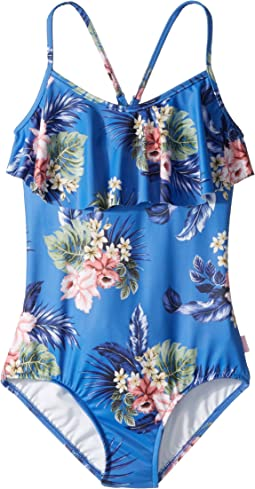 Seafolly Kids - Retro Tropic Ruffle Tank One-Piece (Little Kids/Big Kids)