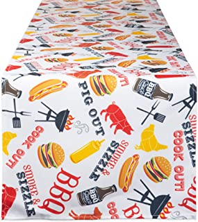 DII CAMZ11167 100% Polyester Table Runner, Spilll Proof and Waterproof for Outdoor or Indoor Use, Machine Washable, 14x72,...