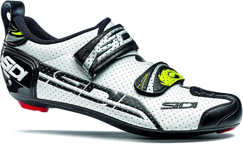 Sidi T4 Air Carbon Comp Triathlon shoes White Black Size 38