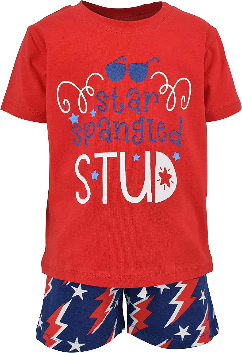 Unique Baby Boys Star Spangled Max Bargain sale 47% OFF Stud 4th Patriotic July Shorts of