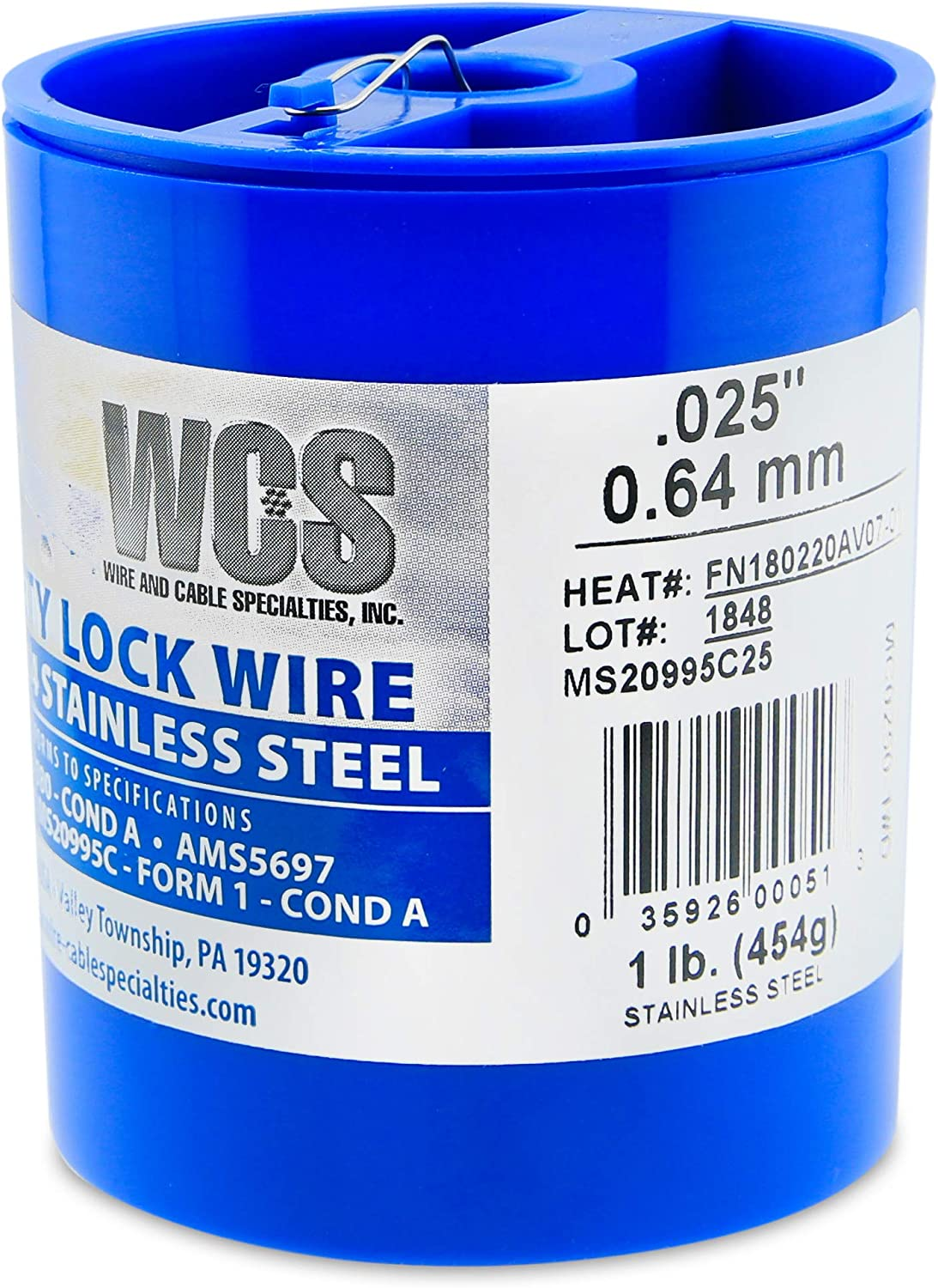 Mail Washington Mall order Wire and Cable Specialties MC0250-1#D Safety MS2 .025