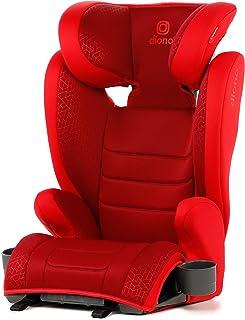 Diono Monterey 2CXT Fix, ampliable con respaldo alto, altura y anchura ampliables, 8 años 1, asiento de coche, grupo 2/3, 4 a 12 años aproximados, 15-36 kg, conectores Isofast, color rojo