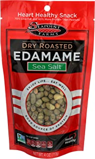 SEAPOINT FARMS Low Sodium Roasted Dried Edamame, 4 OZ