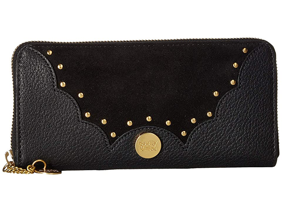 See by Chloe Nick Continental Wallet (Black) Wallet Handbags