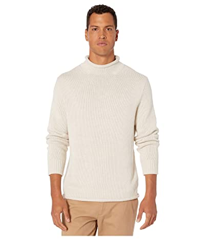 J.Crew Unisex 1988 Cotton Rollneck Sweater (Heather Natural) Men