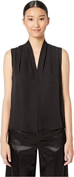 Sleeveless Drape Neck Blouse