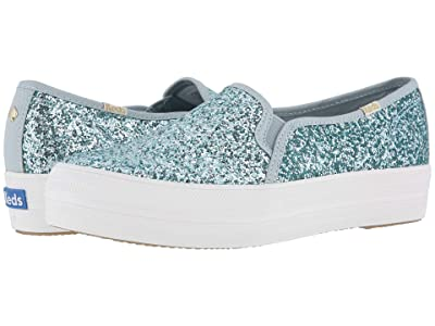 Keds x kate spade new york Triple Decker KS Glitter (Light Blue) Women