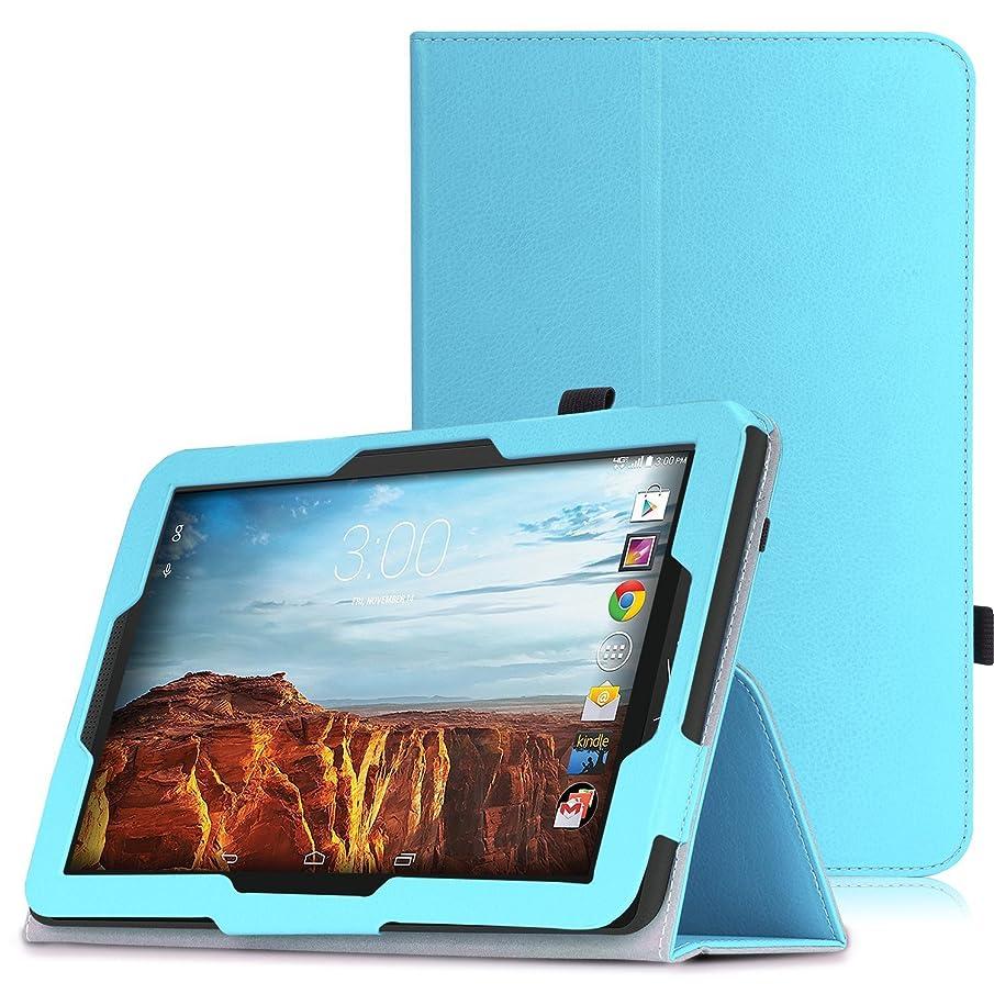 MoKo Verizon Ellipsis 10 2015 Case - Premium PU Leather Slim Folding Stand Cover for Verizon Ellipsis 10-Inch 4G LTE Tablet (NOT FIT 2017 Verizon Ellipsis 10 HD), Light BLUE
