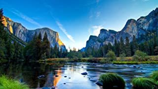 Puzzles for Adults 1000 Pieces DIY Yosemite Park Sky Mountain Forest Lake Stones Picture On for Home Decor Lovely Gift