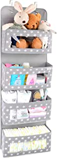 Vesta Baby Over the Door Hanging Organizer - Unisex Space-Saving 4-Pocket Storage Solution for Closet, Children's Room, Nu...