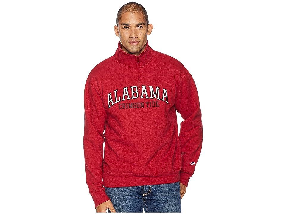 Champion College Alabama Crimson Tide Powerblend(r) 1/4 Zip (Cardinal) Men