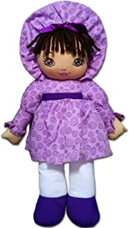 """Anico Well Made Play Doll for Children Sweetie Mine, Hispanic, 15"""""""" Tall, Lavender (A5791LAL)"""