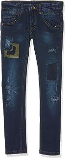MEK Pantalone Denim Elasticizzato con Toppe Jeans para Niños