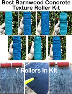 Best Barn Wood Texture Rollers - MOST PRISTINE WOOD TEXTURES! 7 BEAUTIFUL ROLLERS INCLUDED IN KIT