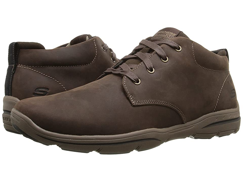 SKECHERS Relaxed Fit Harper Melden (Chocolate Leather) Men