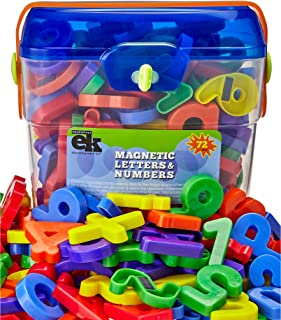Magnetic Letters and Numbers – 72 Educational Refrigerator Fun Learning Plastic Magnets for Toddlers and Children – Great for Preschool, Classroom, Day Care, and Home – by EduKids