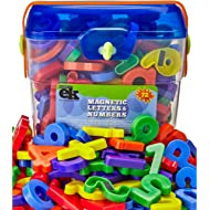 Magnetic Letters and Numbers – 72 Educational Refrigerator Fun Learning Plastic Magnets for...