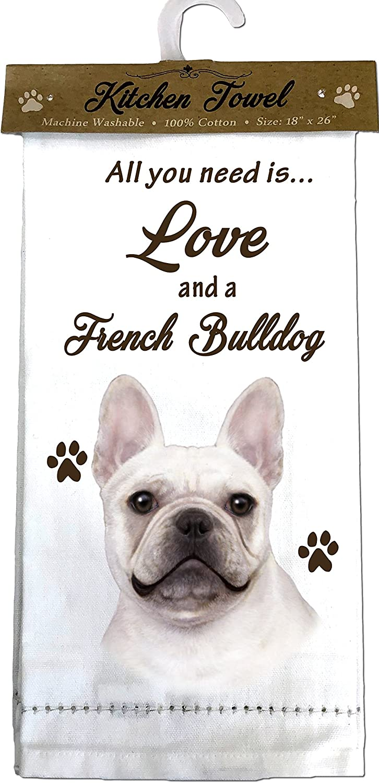 ES Pets French Bulldog Off-white Mesa Mall Towels Kitchen Philadelphia Mall