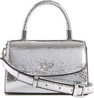 Guess Layla Mini Top Handle Flap Silver