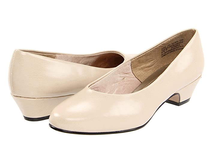 1930s Style Shoes – Art Deco Shoes Soft Style Angel II Bone Womens 1-2 inch heel Shoes $39.95 AT vintagedancer.com